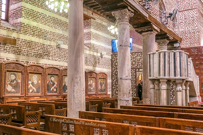 Coptic Cairo - Saints Sergius and Bacchus Church (Egypt).