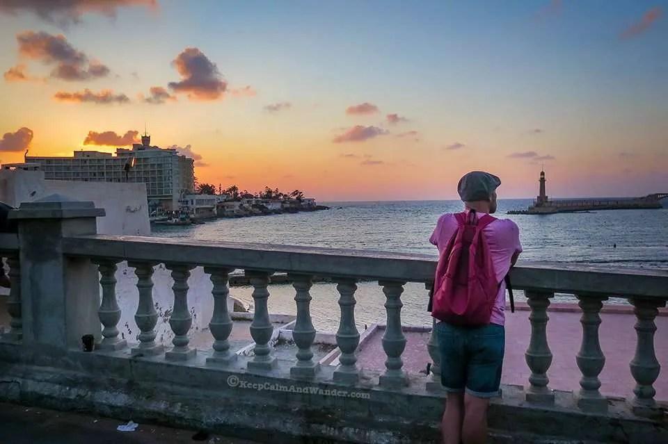 Mediterranean Sunset in Alexandria (Montaza Palace Gardens) Egypt