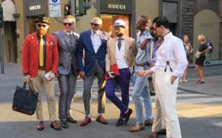 The Dashing and Fashionable Men of Florence (italy).