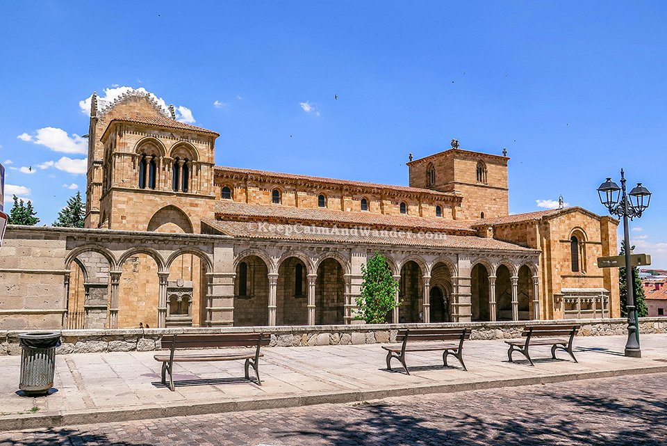 Basilica de San Vicente in Avila and the Story of the Three Martyrs (Spain).