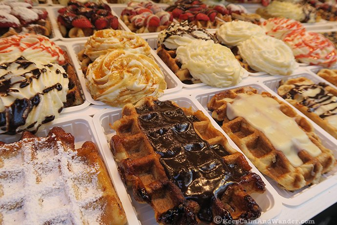Food Porn - Belgian Waffles in Brussels (Belgium).