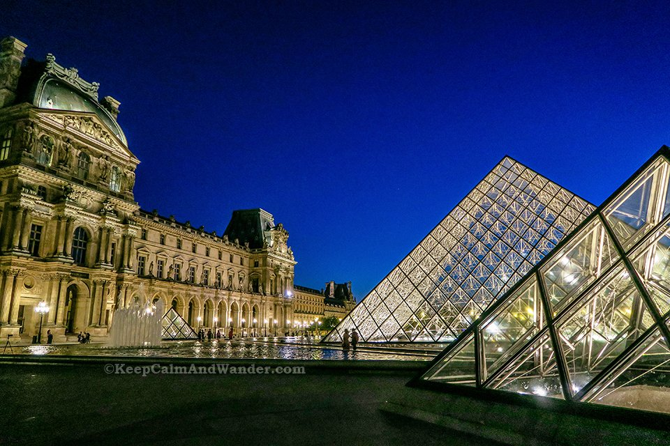 The Pyramid at Louvre Museum are Photogenic at Night (Paris, France).
