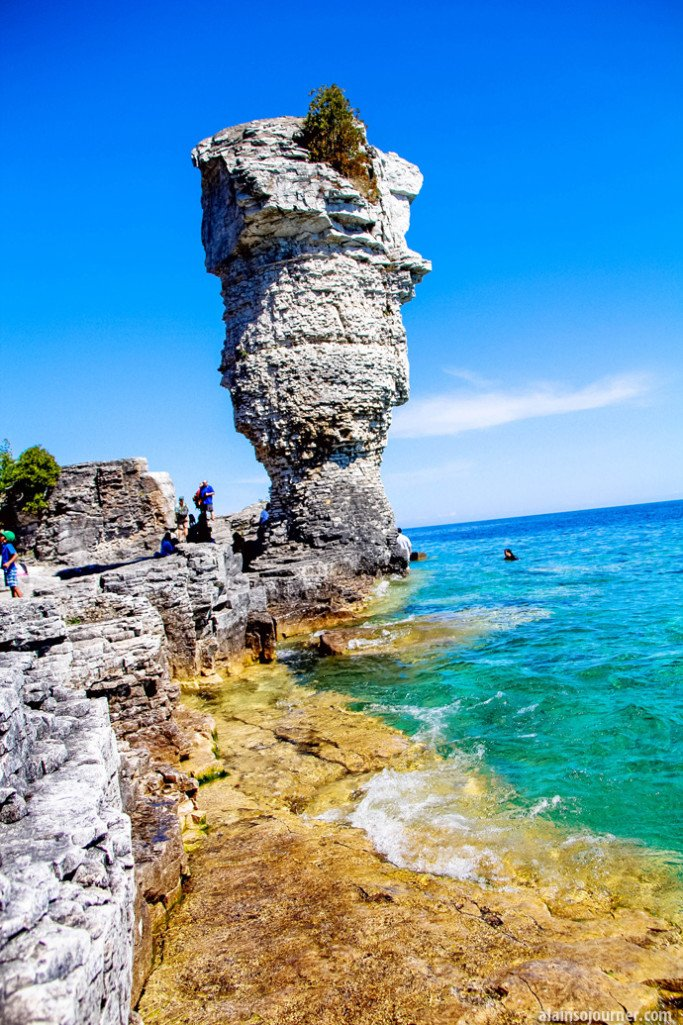 Flower pots island in Bruce peninsula