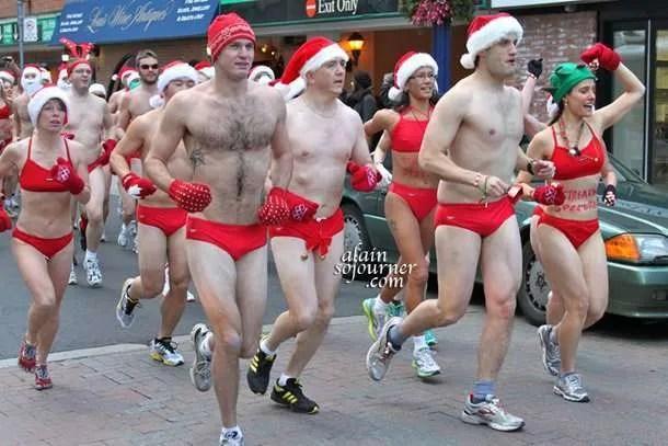 Toronto 2011 Naked Santa Speedo Run
