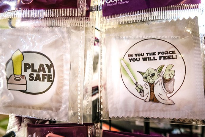 I Found These Funny Condoms in Italy.