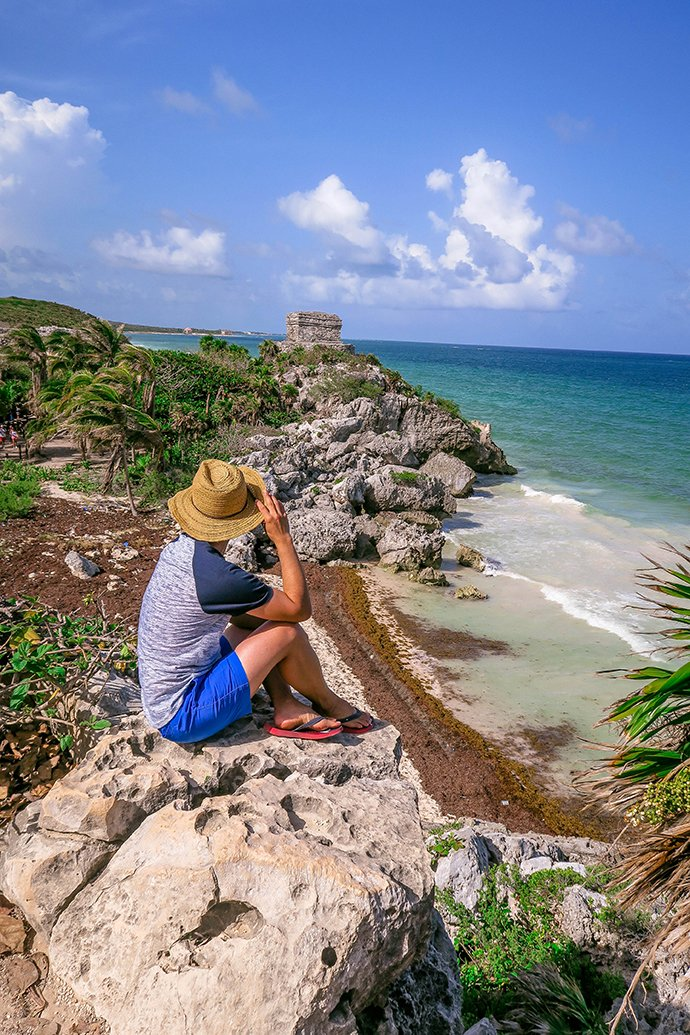 One Day Sightseeing Tour Outside Cancun (Tulum Ruins/Ruinas, Mexico).