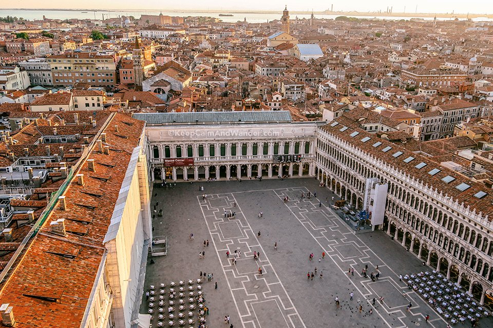 View of Venice from the Top of St. Mark Bell Tower (Italy).