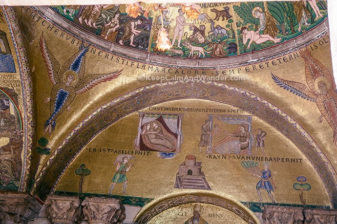 The Mosaics of St Mark Basilica (Venice, Italy).