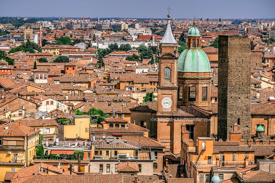 View from the Top: Bologna is a City That Still Looks Medieval (Italy).