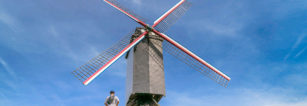 VoormaligeHanzekwartier Windmills / I Spent a Day in Bruges and I did My Own Walking Tour (Belgium).