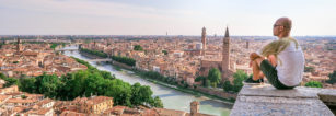 Verona Skyline - A Perfect City for Star-Crossed Lovers (Italy).