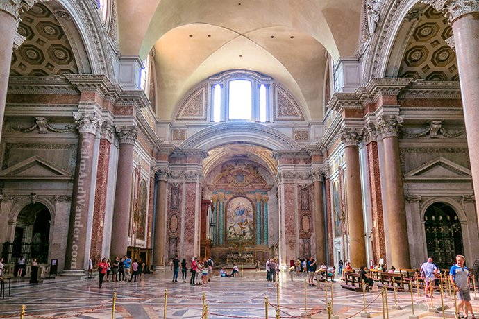 The Basilica of Santa Maria, Angels and Martyrs (Basilica de Maria Degli Angeli del Martiri) (Rome, Italy).