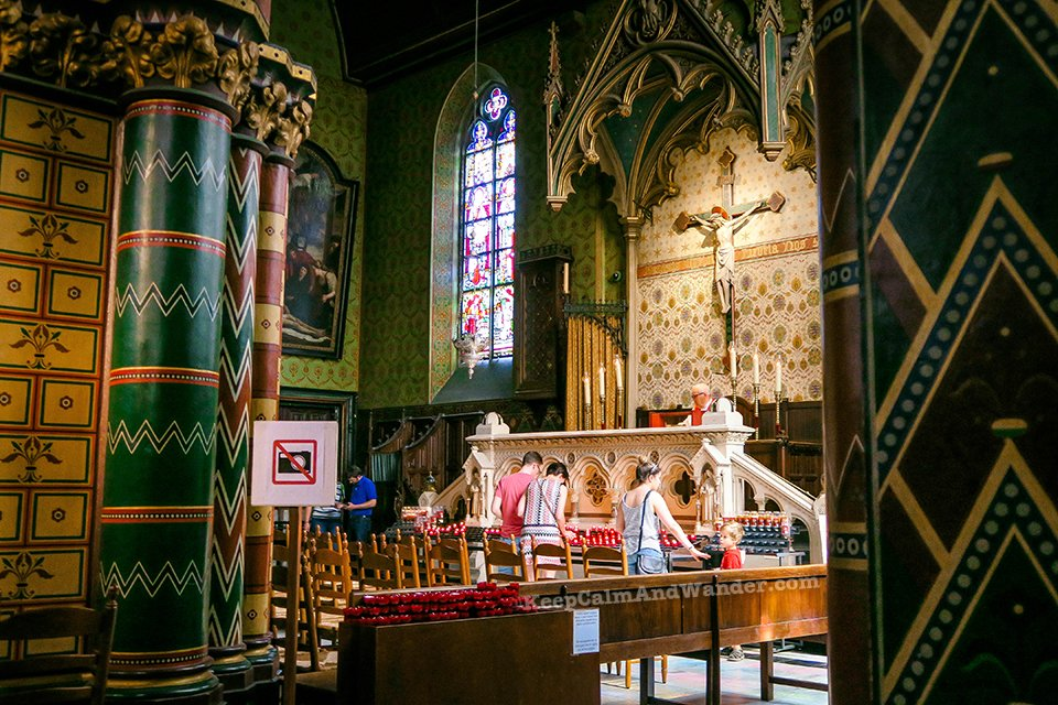 I Saw the Blood of Christ at the Basilica of the Holy Blood (Bruges, Belgium).