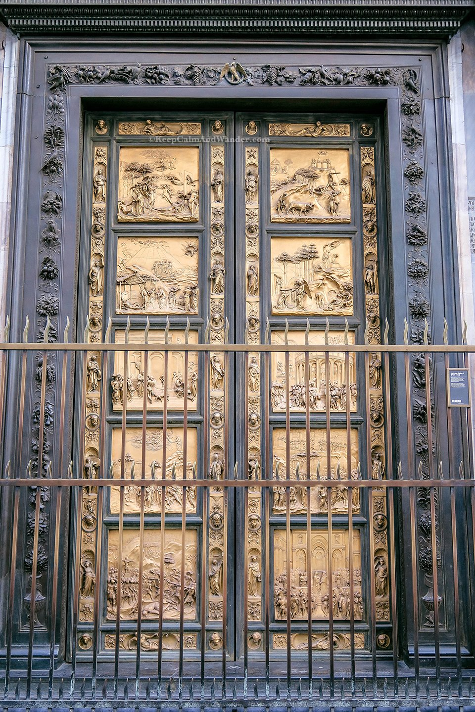 The Gates of Paradise at Florence Baptistry (Italy).