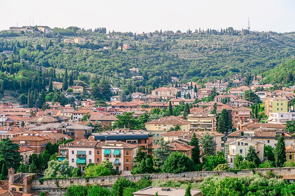 The Panoramic View of Verona - A Perfect City for Star-Crossed Lovers (Italy).