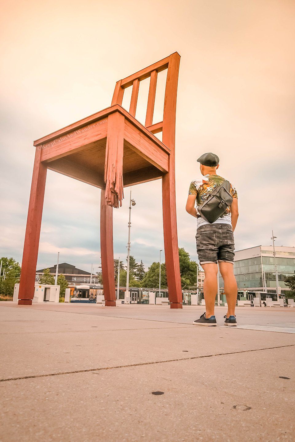 The Broken Chair at the United Nations Office in Geneva (Switzerland).
