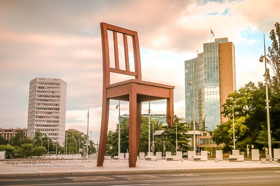 The Broken Chair at the United Nations Office in Geneva