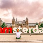 I Had a Photo Op at I Amsterdam Sign Statue and the Sky Turned Pink!