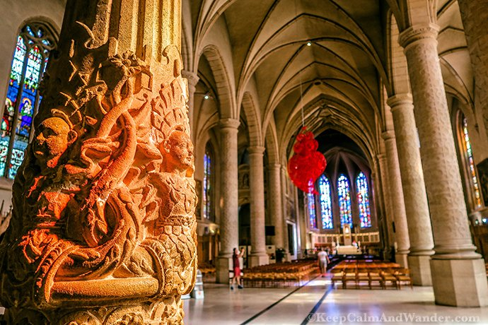 Inside the Notre Dame Cathedral of Luxembourg