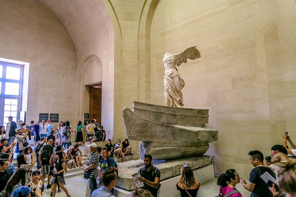 The Winged Victory of Samothrace.