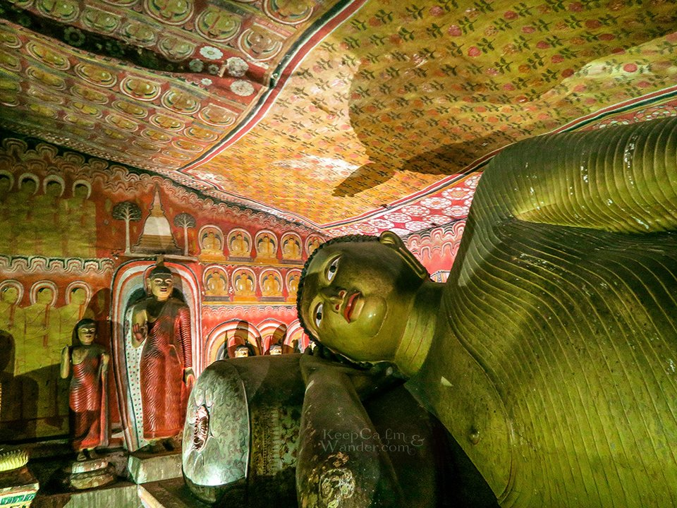 The Golden Rock Temple of Dambulla (Sri Lanka).