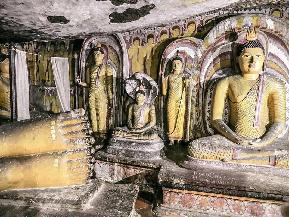 The Golden Rock Temple of Dambulla (Sri Lanka).