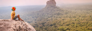 The Views on the Summit of Pidurangala Rock (Sigiriya, Sri Lanka).