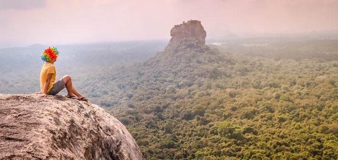 The Views on the Summit of Pidurangala Rock (Sigiriya, Sri Lanka).