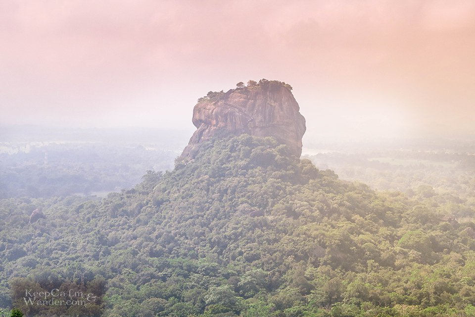 Climbing the Pidurangala Rock in Sigiriya (Sri Lanka).