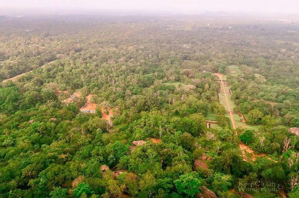 The Summit of Sigiriya Rock (aka Lion Rock) (Sri Lanka).