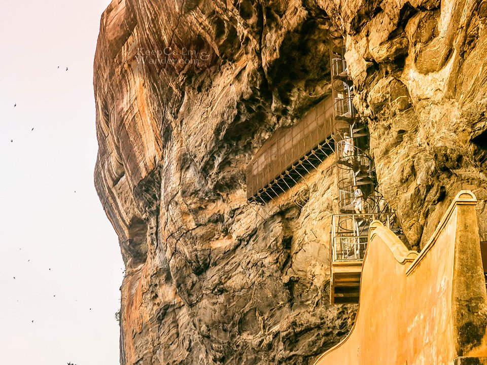 The Spiral Stairway - The Lion Rock of Sigiriya is the Eight Natural Wonder of the World? (Sri Lanka)