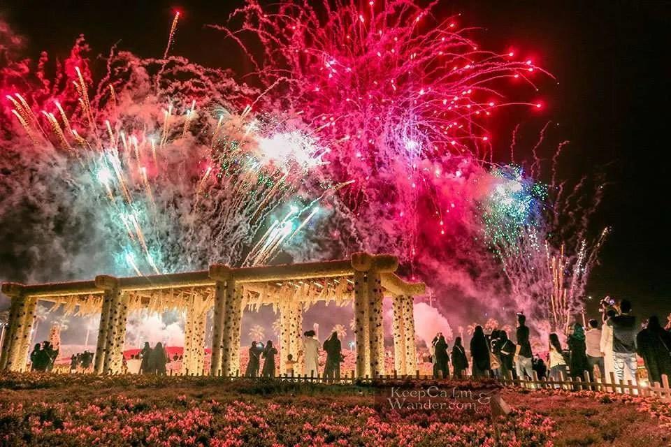 The Fireworks at Yanbu Flower Festival (Yanbu, Saudi Arabia).