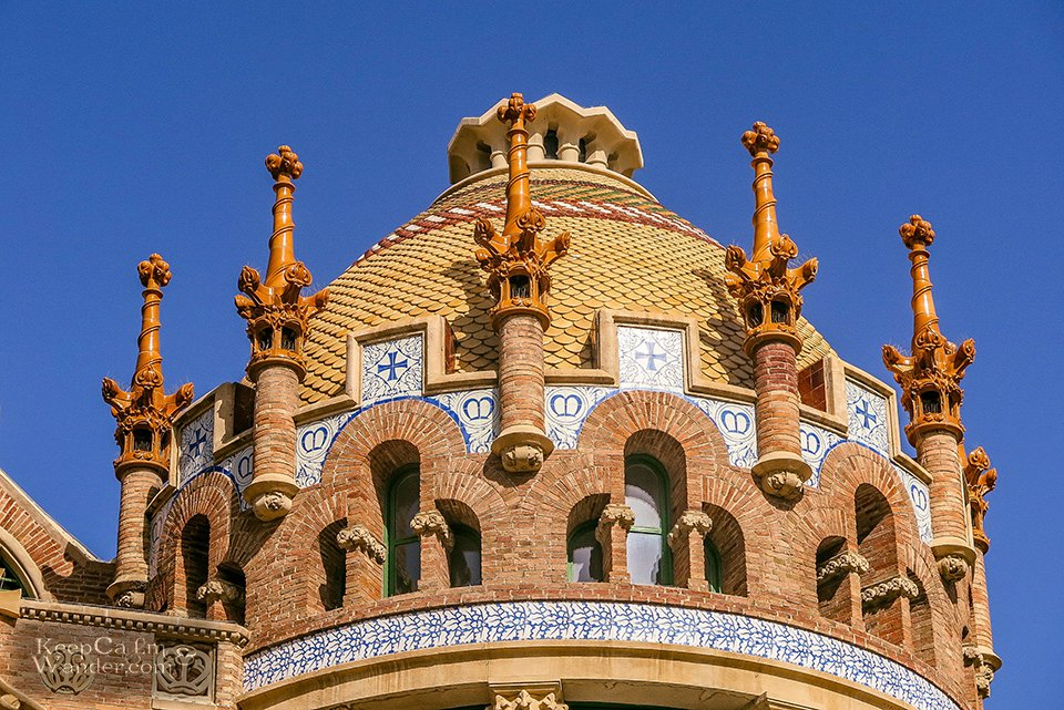 Sant Pau Hospital is Barcelona's Window to Art Nouveau (Barcelona, Spain).