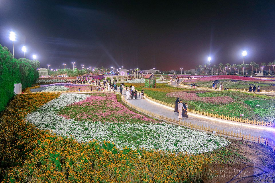 Photos From Yanbo Flower Fest 2018 - The World's Largest Carpet of Flowers (Saudi Arabia).
