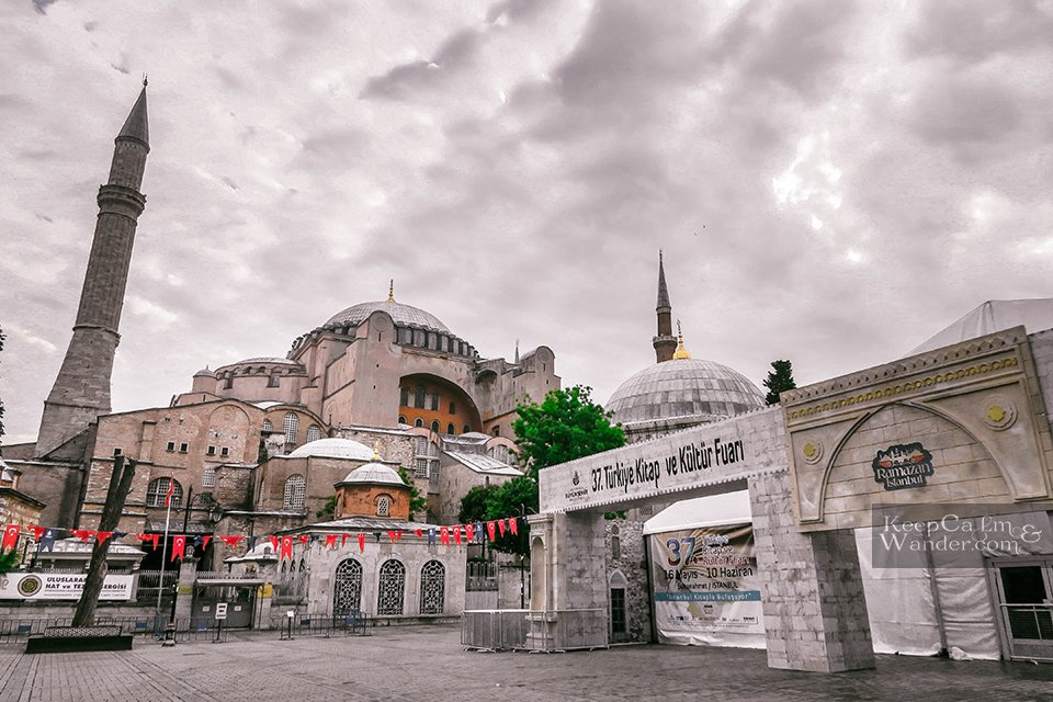 Hagia Sophia in Istanbul: a Christian Basilica, a Mosque and a Museum (Turkey).