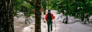 Travel Blog Hollyburn Lodge Hiking Trail in Winter
