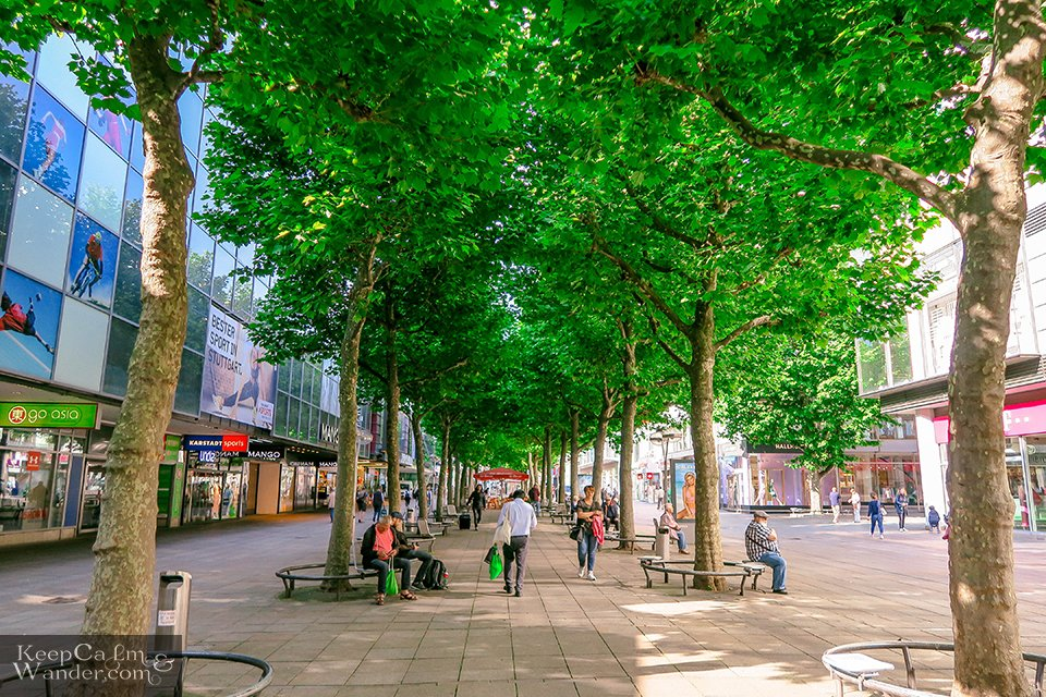 My Own Walking Tour in Stuttgart (Germany) Konigstrabe Street Travel Blog
