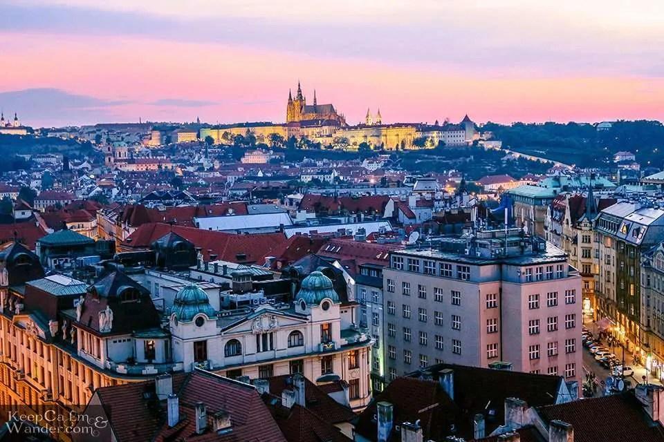 Praha skyline views