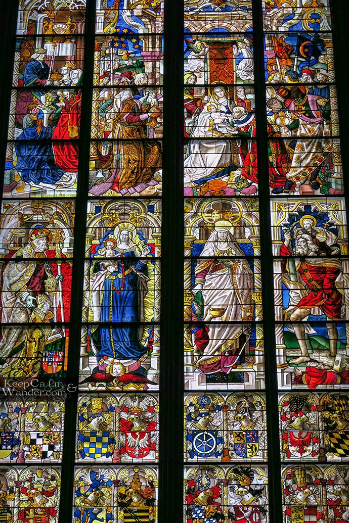 Window of the Three Holy Kings Stain Glasses Window
