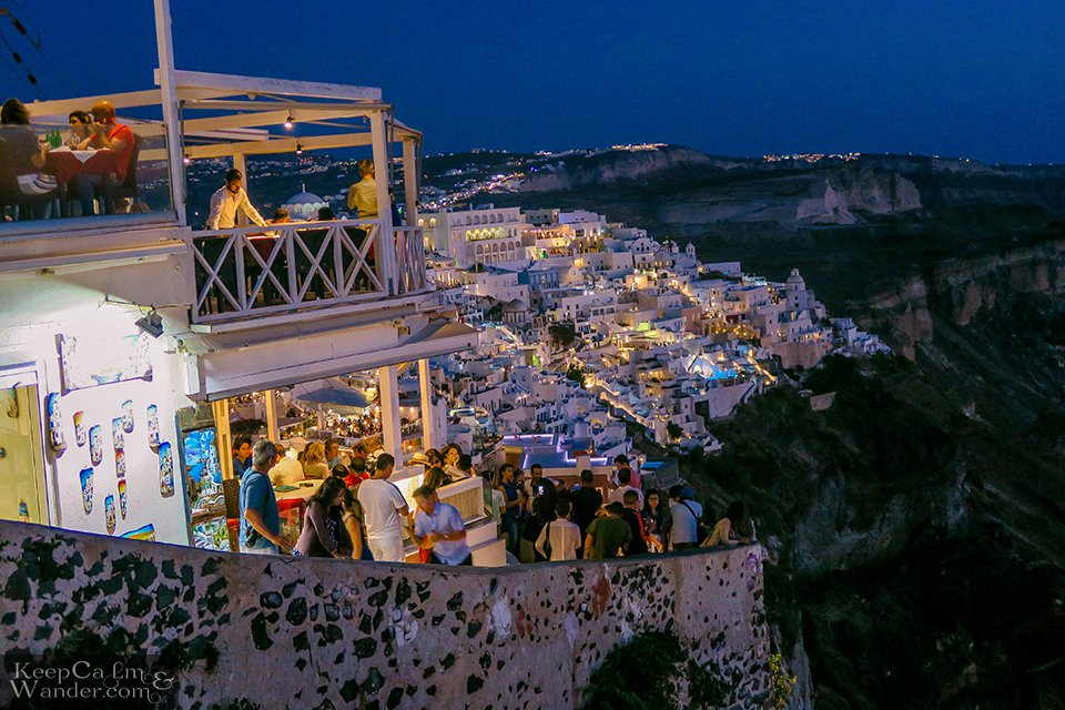 Fira Santorini at Night is Mesmerizing (Greece).