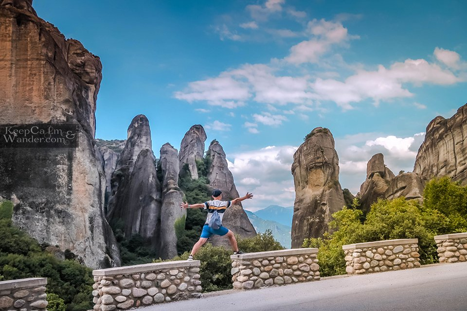 The pillars of rocks are breathtaking natural wonders. Greece Metora