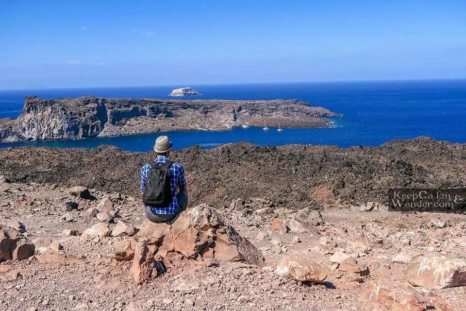 Nea Kameni A Volcanic Island Across Santorini