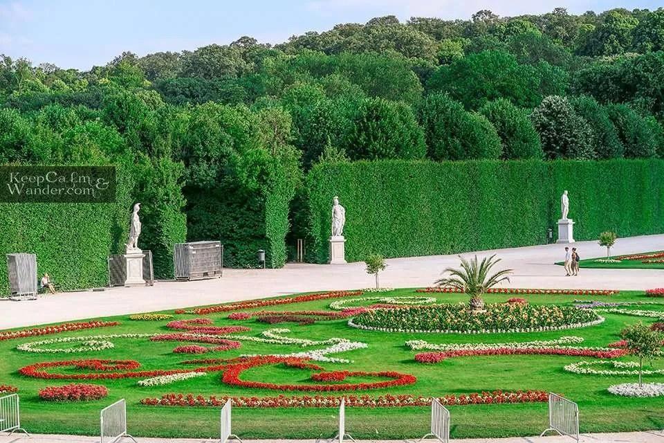 Gardens of Schloss Vienna Austria