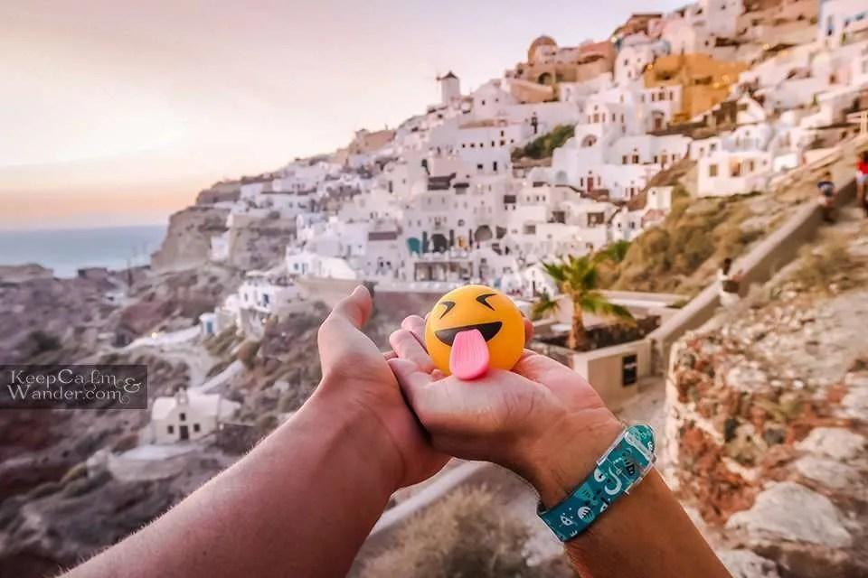 White houses on cliff Santorini Travel Blog