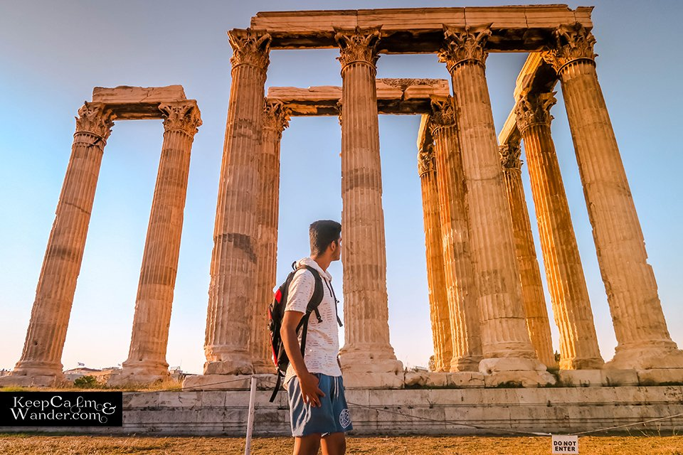 The Temple of Zeus is at the Heart of Athens Greece