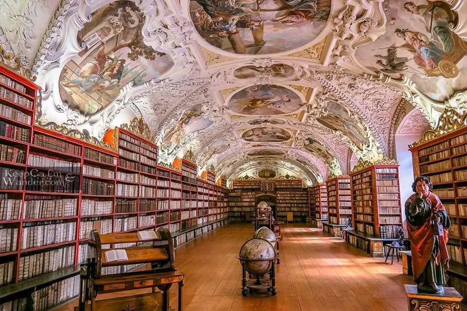 Strahov Monastery Library in  Prague.