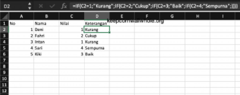 Rumus Excel IF Bertingkat