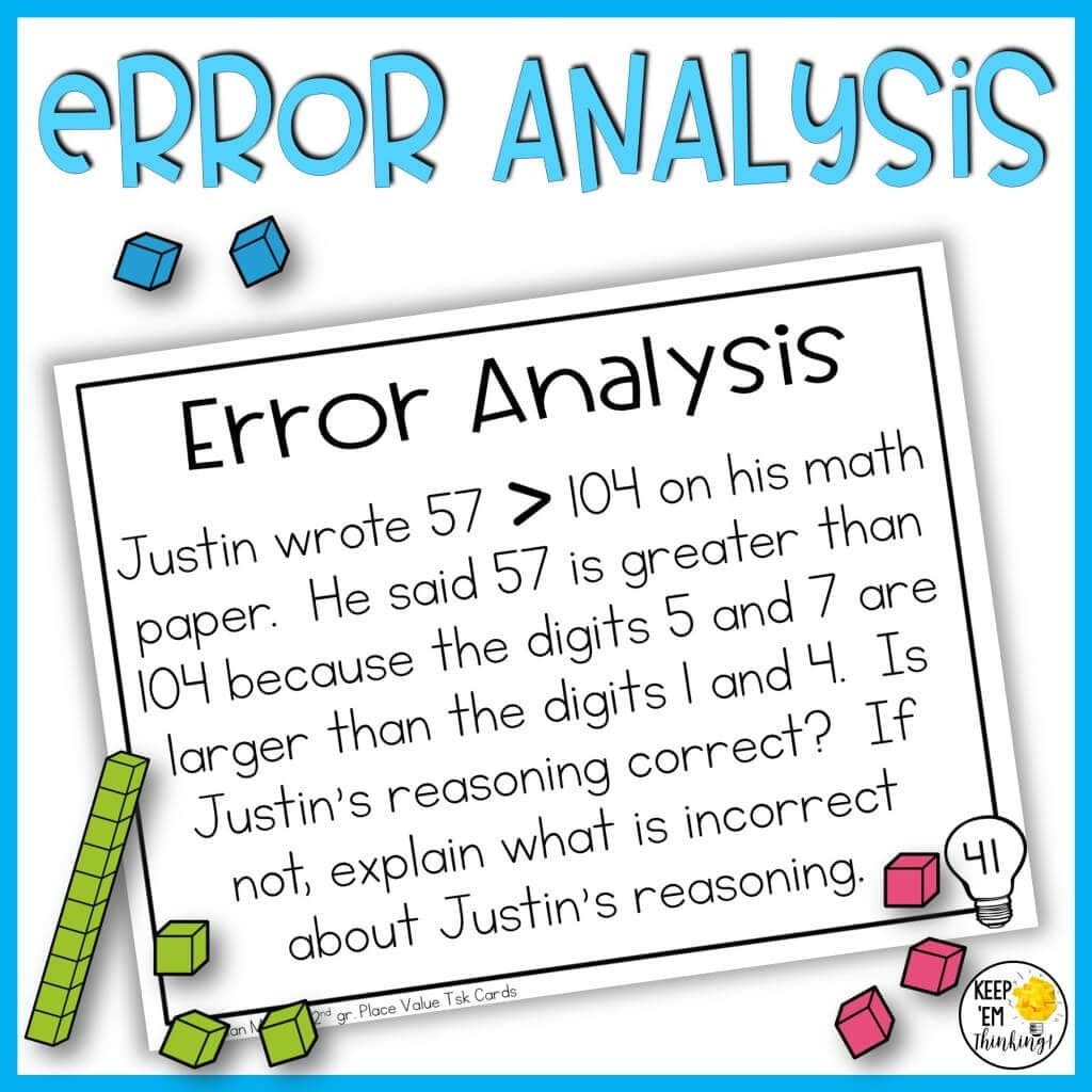 using error analysis task cards to develop critical thinking