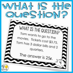 using the what is a question task card in math
