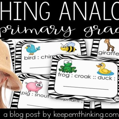 WHY I TEACH ANALOGIES TO PRIMARY STUDENTS